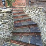 Stepped Entrance leading to paved pathway